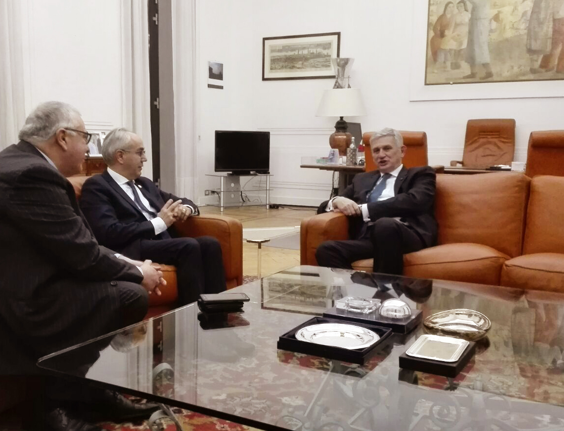 Immagine The President of the Chamber of Commerce and Unioncamere Veneto, Pozza, meets the Ambassador of Italy in Berlin, Benassi.