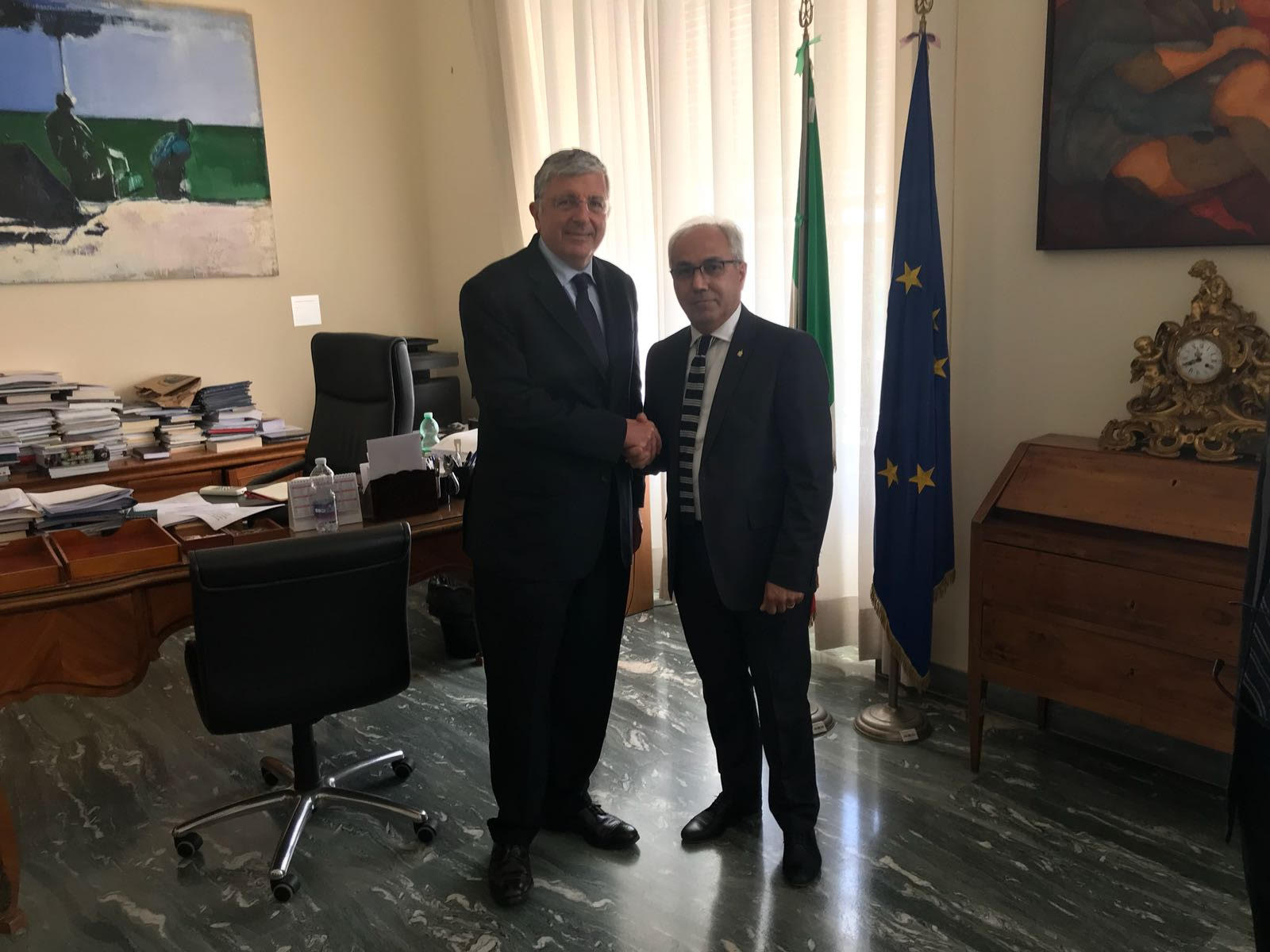 Immagine Meeting in Rome between Unioncamere del Veneto President Mario Pozza and the Farnesina Director General for the Countrywide System promotion Vincenzo De Luca