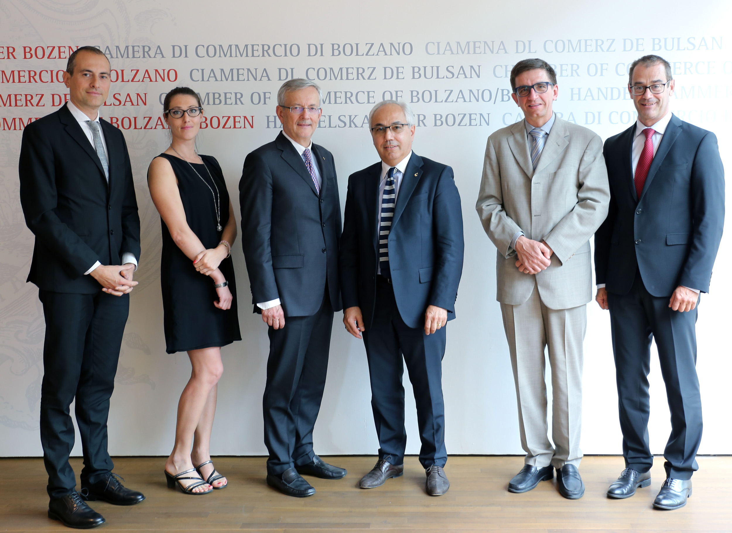Immagine President of Unioncamere del Veneto Mario Pozza meets President Ebner and Segretary-General Aberer of the Bolzano Chamber of Commerce