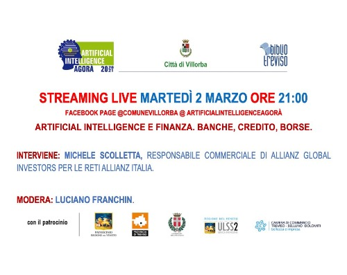 Immagine AIA next event: Artificial intelligence and finance. Banking, credit, stock exchanges