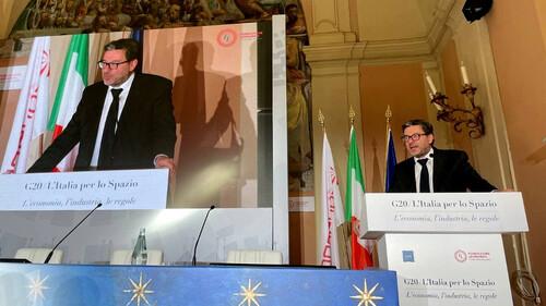 Immagine G20 Spazio: Giorgetti, industria italiana è protagonista