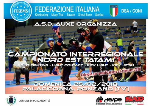 Immagine Campionato Interregionale Nord Est Tatami  Point Fighting, Light Contact, Kick Light, Kick Jitsu