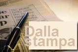 icona dalla stampa raffigura giornale con penna